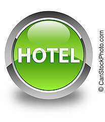 Hotel glossy green round button