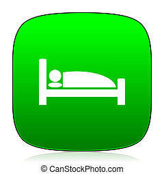 hotel green icon