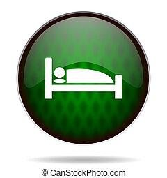 hotel green internet icon
