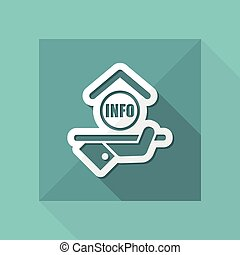 Hotel icon. Info.