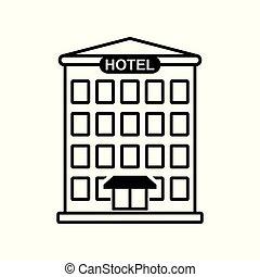 Hotel icon isolated on white background