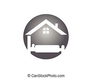 Hotel icon logo template