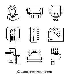 Hotel Icon Set Illustration Design