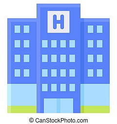 Hotel icon, Summer vacation related vector