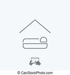 Hotel icon - Thin series