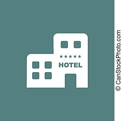 Hotel icon vector sign