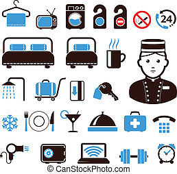 hotel, iconos