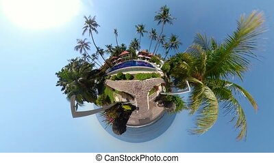 hotel in a tropical resort