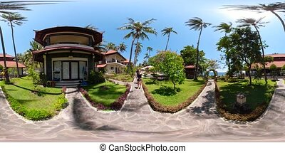hotel in a tropical resort vr360