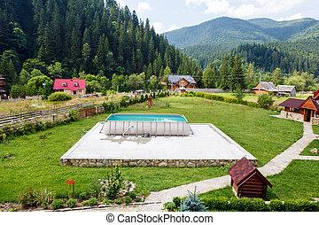 Hotel in Carpatian Mountains. Ukraine.