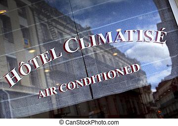 Hotel in Paris - Window of a charming hotel in Paris