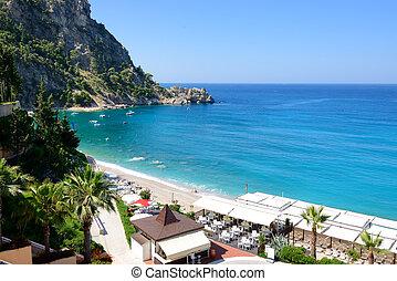 hotel, indyk, plaża, luksus, fethiye
