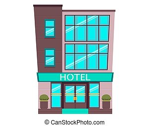 Hotel isolated on white background
