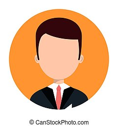hotel, karakter, receptionist, pictogram