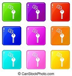 Hotel key set 9