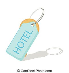 hotel key vector icon on a white background