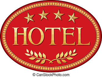 hotel label design