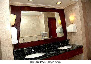 hotel, lavado, habitación, lujo