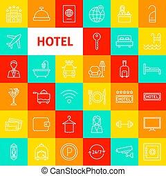Hotel Line Icons