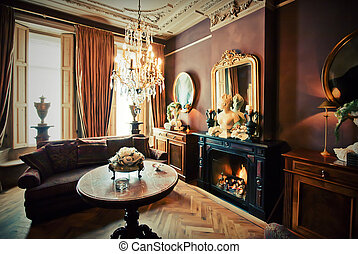 hotel lounge room - luxury hotel-lounge room in classic...