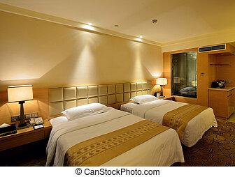 hotel, luxe, kamer