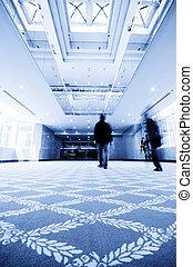 hotel, luxus, korridor