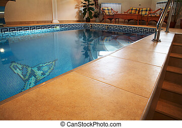 hotel, modernos, piscina