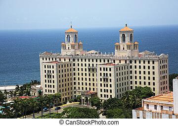 the Hotel Nacional de Cuba, located in Vedado, Havana Cuba
