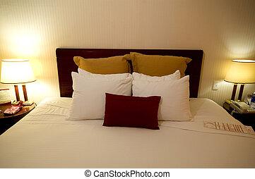 hotel, natural, habitación