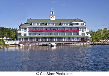 Hotel on lake front