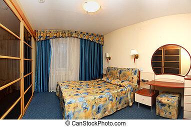 hotel, panoráma, hálószoba
