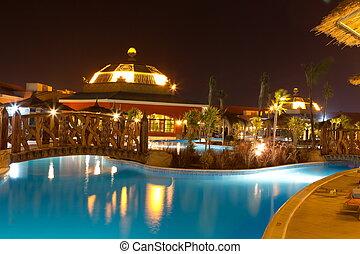 hotel, piscina