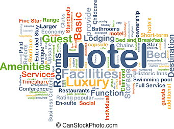 hotel, plano de fondo, concepto