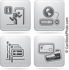 Hotel Related Icons - Various hotel icons: Emergency...