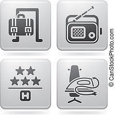 Hotel Related Icons - Various hotel icons: Separate Language...