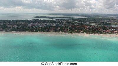 Hotel Resort In Varadero Cuba Caribbean Sea Beach Drone Flying