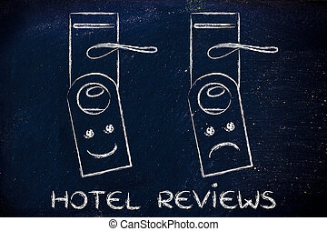 hotel reviews: happy and sad face - hotel reviews by guests:...