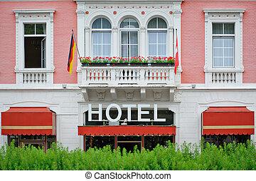 hotel, romantische, gezellig