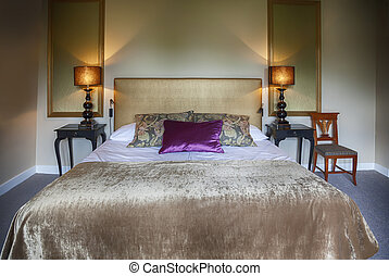 hotel room in old house