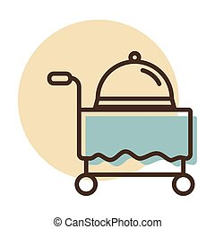 Hotel room service vector icon. Graph symbol for travel and ...