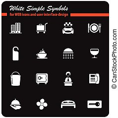 hotel room services icon set - hotel room services vector...