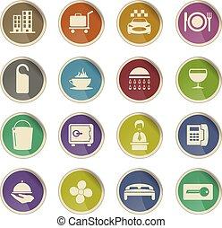 hotel room services icon set - hotel room services vector...
