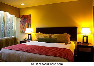 Hotel room - Interior of a modern luxury hotel room