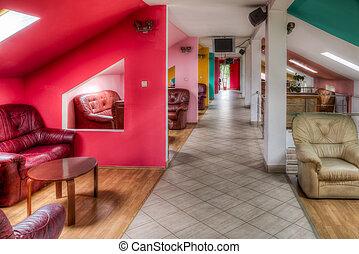 hotel, salon