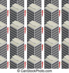 Hotel seamless pattern