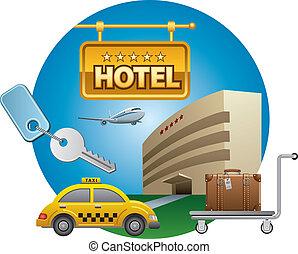 hotel, serviço