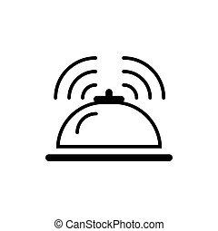 hotel service bell vector illustration.