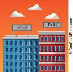 hotel service building - hotel service facade exterior with ...