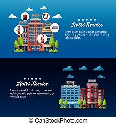 hotel service building - hotel service flyer advertising ...