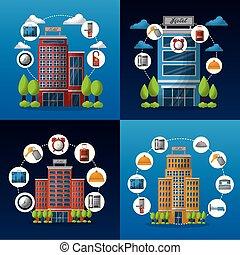 hotel service building - hotel service set architecture ...